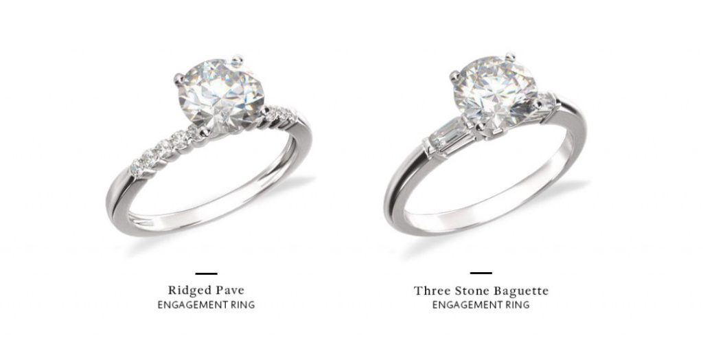 what is a pave setting side stone comparison