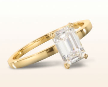 Yellow Gold Emerald Cut Engagement Rings You Ll Pass Down