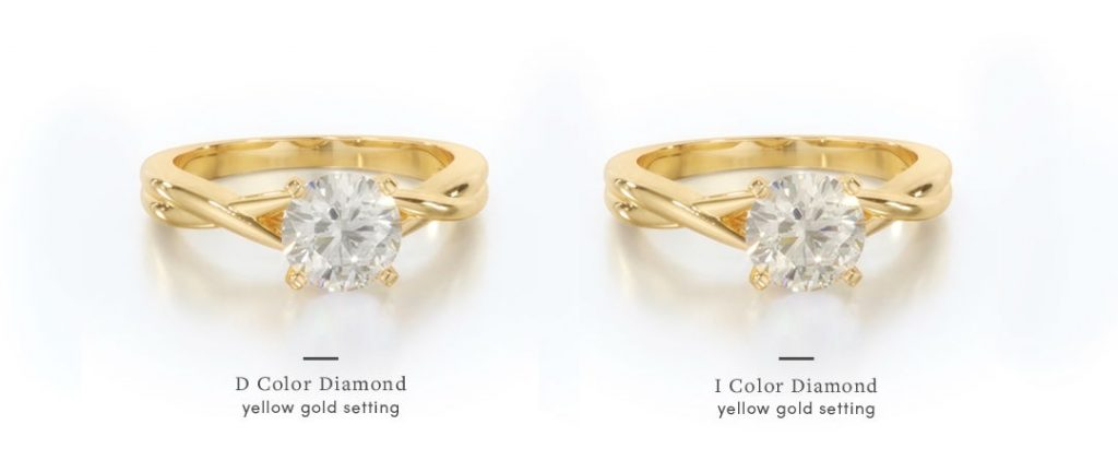 yellow gold engagement rings d i stone comparison
