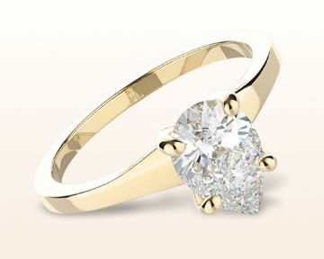 yellow gold pear shaped engagement rings widening solitaire