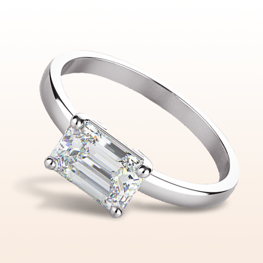 engagement ring Sleek Cathedral Solitaire