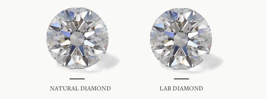 Natural diamond versus lab diamond thumbnails