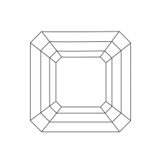 Gemstone Asscher Shape