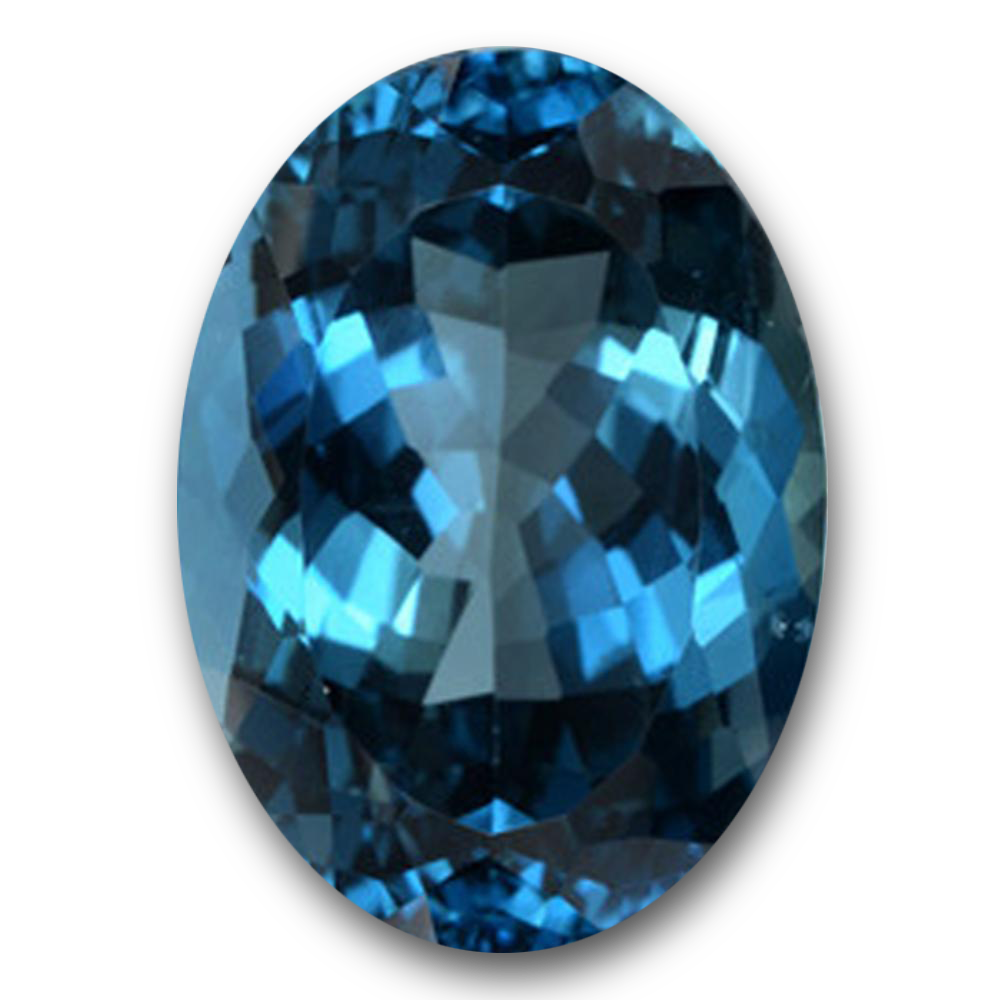 Oval Shape Blue Topaz