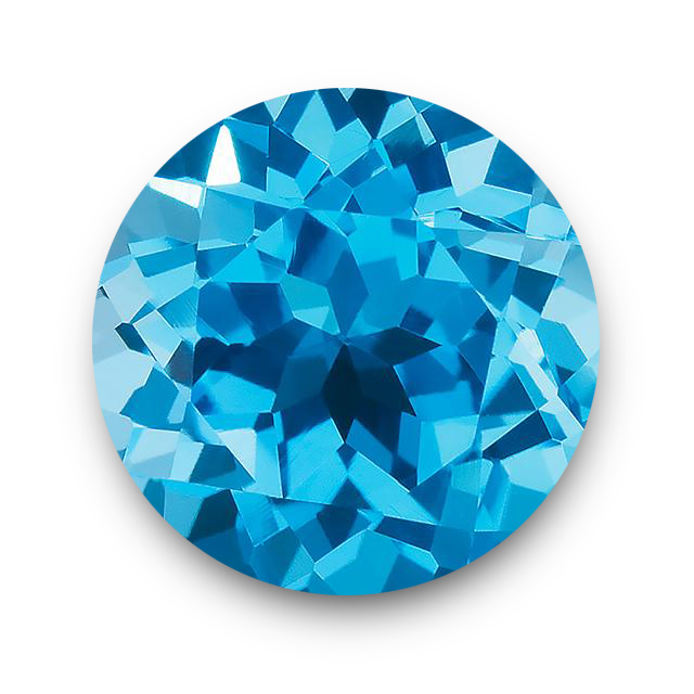 Brilliant Cut Round Shape Blue Topaz