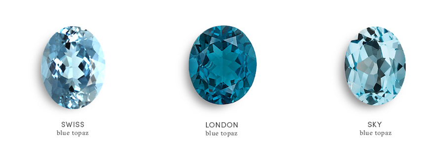 Types of Blue Topaz: Swiss Blue Topaz, London Blue Topaz, and Sky Blue Topaz