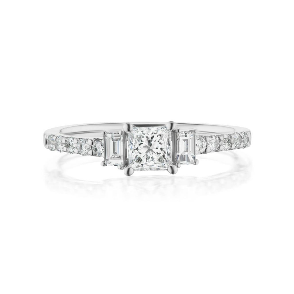 With Clarity Affirm diamond engagement ring