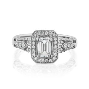 With Clarity Melody diamond preset engagement ring