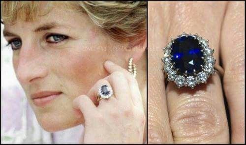 12 carat oval Blue Ceylon Sapphire Ring worn by Lady Diana Spencer