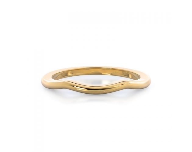 woman's yellow gold band: vintage inspired ring