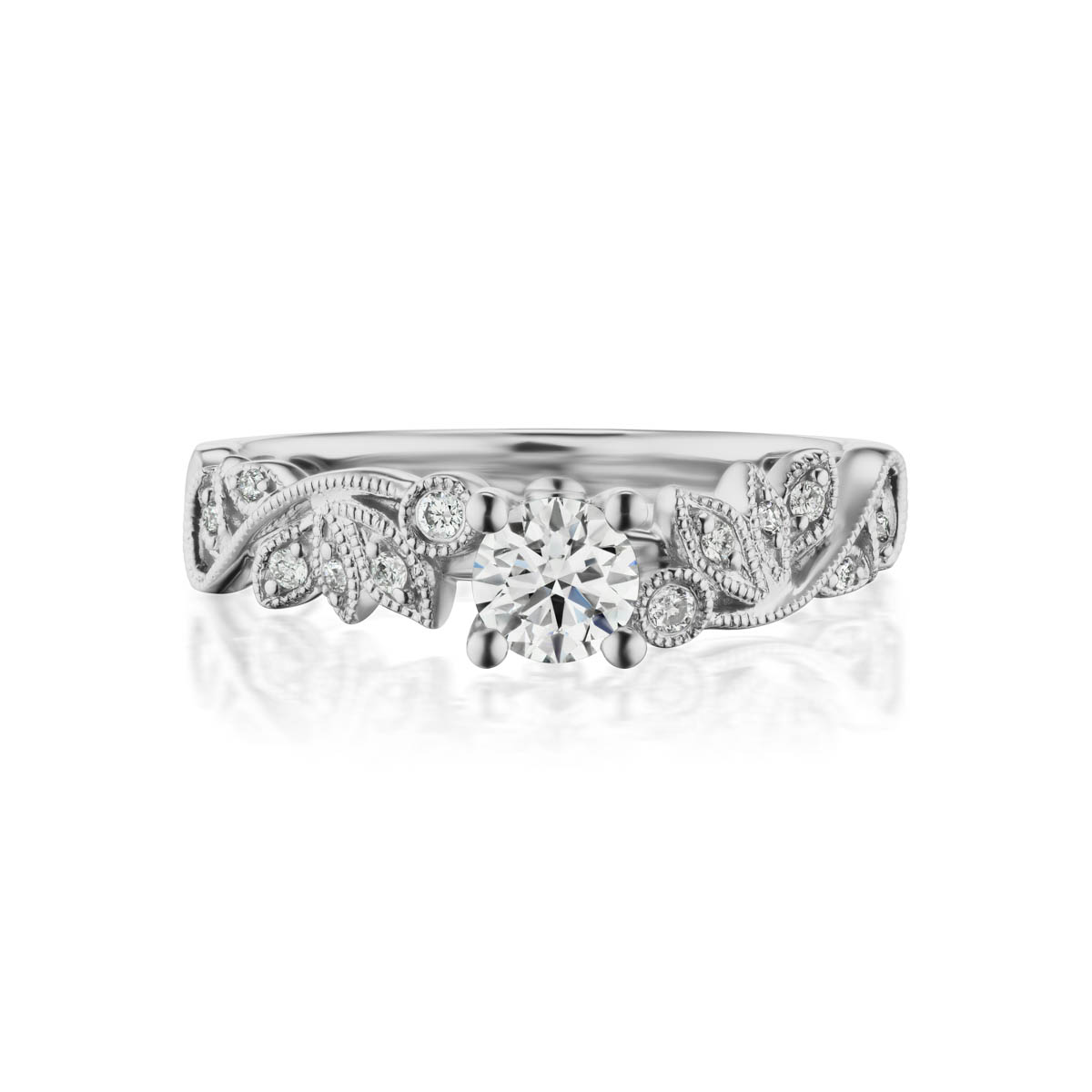 Affection preset engagement diamond ring, 14KT White Gold