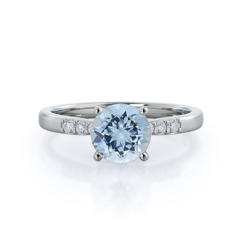 Enchant Aquamarine Ring, 14KT White Gold