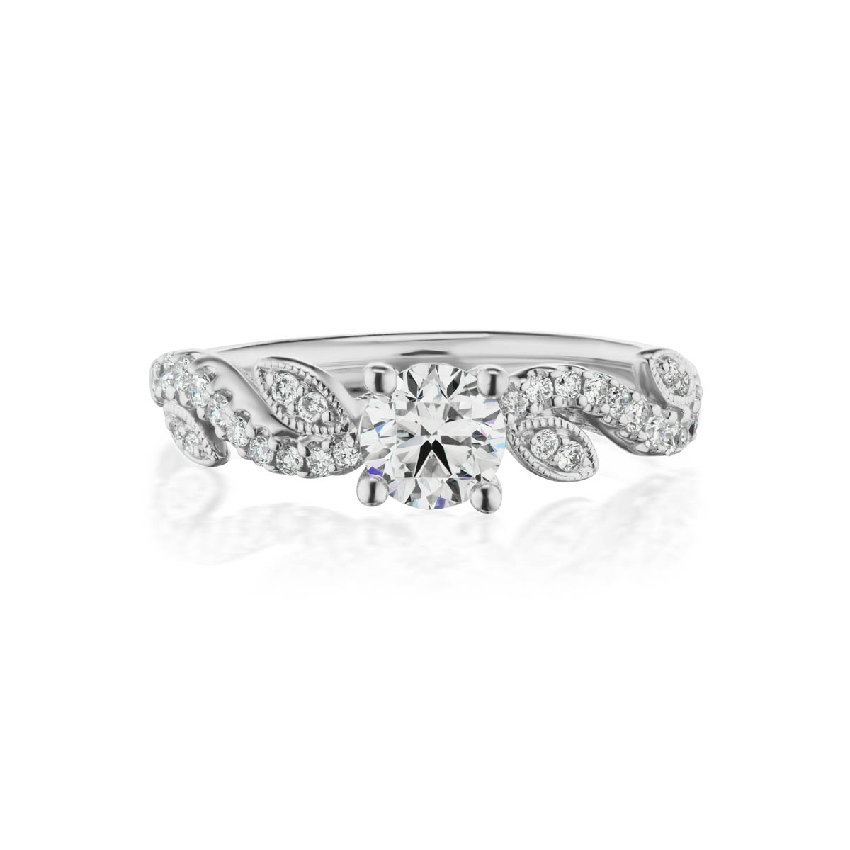 Gratia Diamond ring, White Gold