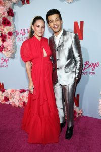 Jordan Fisher & Ellie Woods at movie premiere: To All the Boys I Loved Before 2: Celebrity Proposal