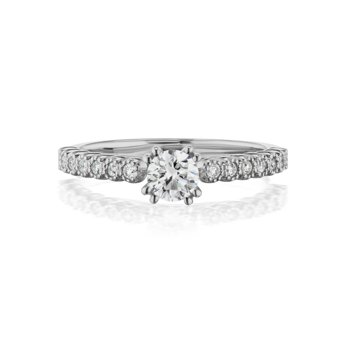 Mesmerize preset engagement diamond ring, 14KT White Gold