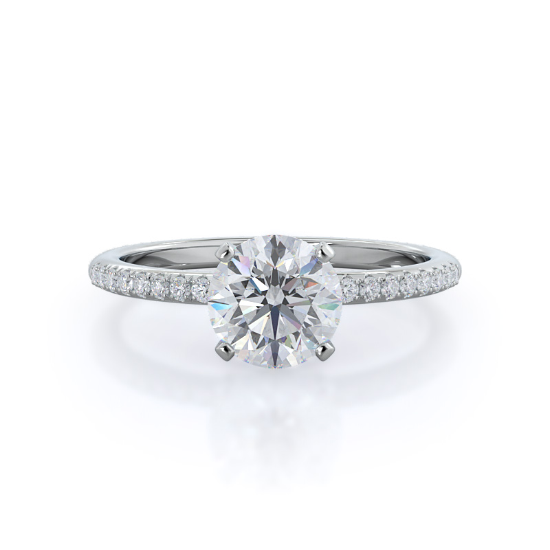 Micropave Diamond Ring, 14KT White Gold