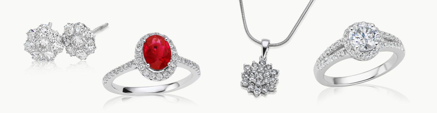 Holiday gift ideas: gemstone ring, earrings, necklace, diamond ring