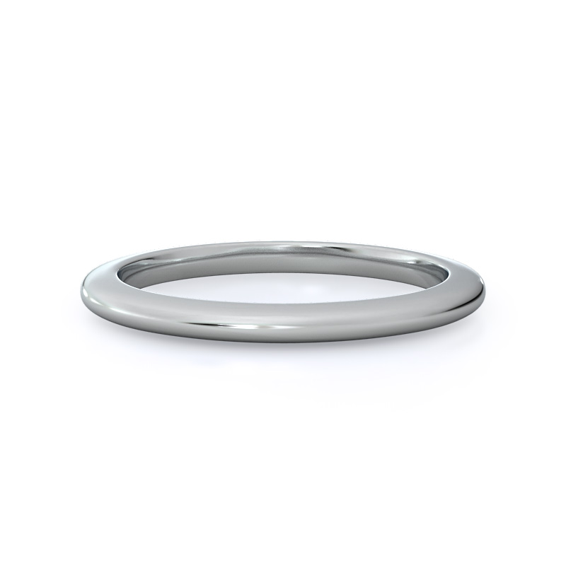 Solitaire Matching Wedding Band, 14KT White Gold