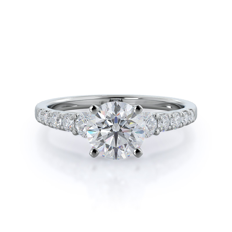Regalia Pave Diamond Ring, 14KT White Gold