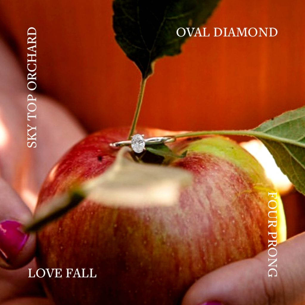 Autumn Proposal: Four Prong Oval Diamond Ring in white gold