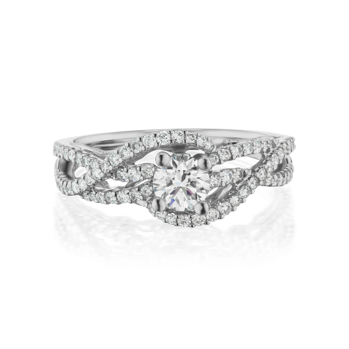 Valia Diamond Ring; 14 kt white gold