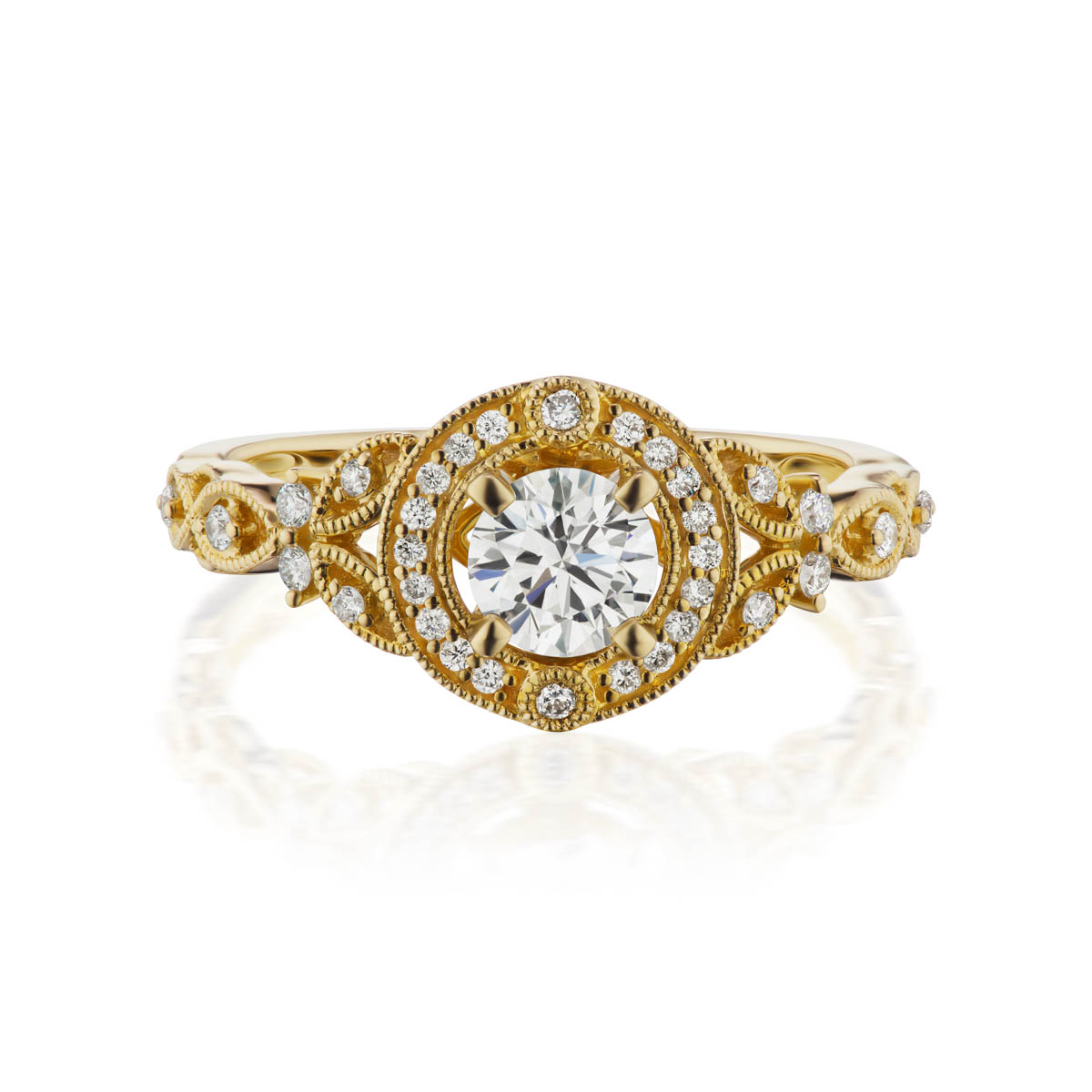 Splendida natural diamond; 14kt white gold