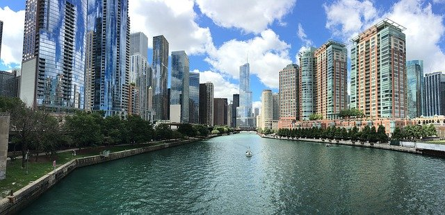 Chicago Skyline: Source: Pexels