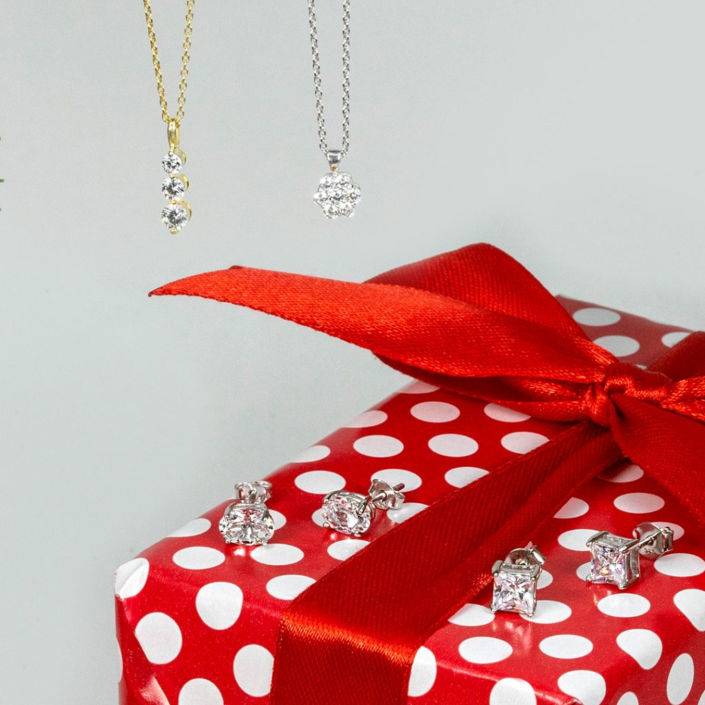 Affordable holiday jewelry: earrings and necklaces