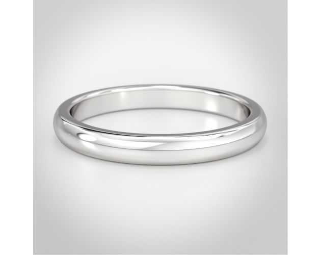Classic Low Dome Men's Wedding Band