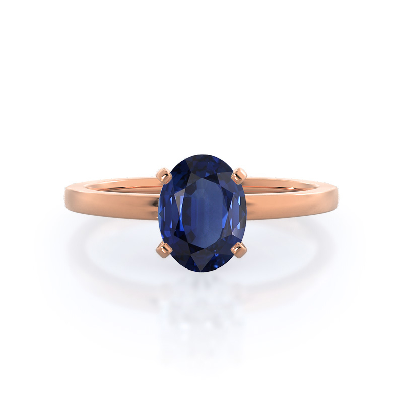 Petite Solitaire Sapphire Ring