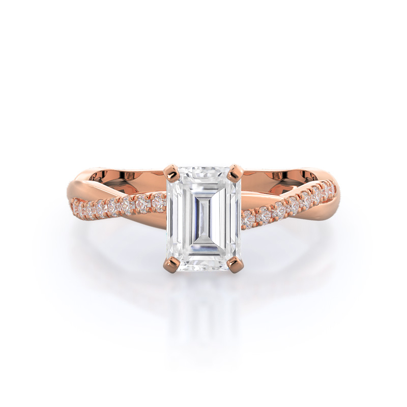 Vine Moissanite Ring