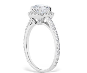craft a solitaire diamond engagement ring with white gold and six prongs