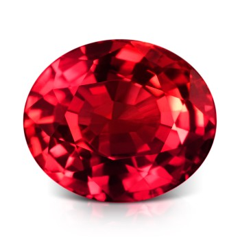 AAA quality natural red oval shaped ruby