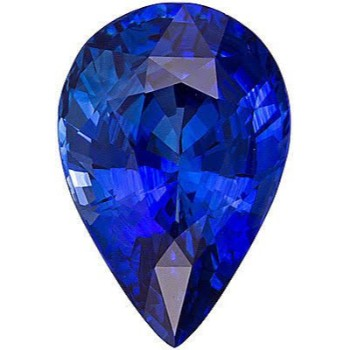 AAA quality natural pear cut sapphire