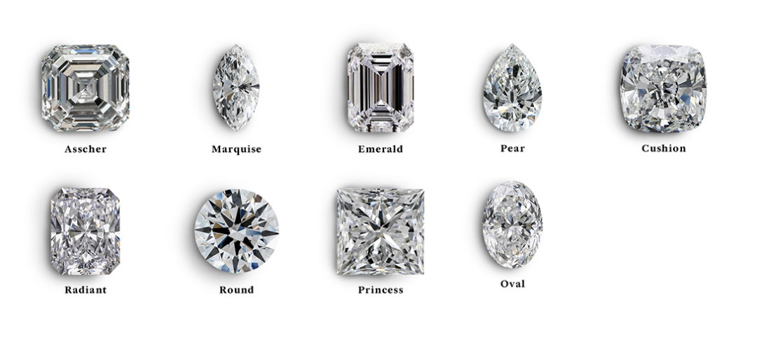 buying a diamond online shapes