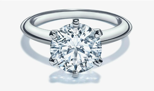 a diamond engagement ring image representing the budgeting aspect of buying/education/..ping