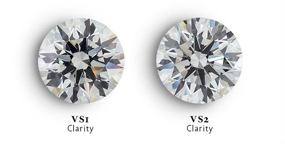 VS2 vs VS1 full diamond comparison