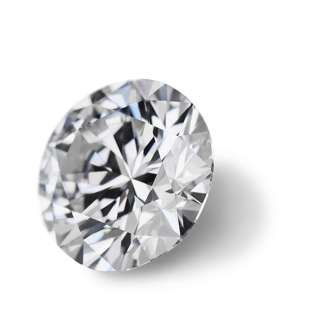 White diamond example, typical for diamond clarity grading