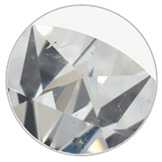 diamond with an SI1 clarity grade with small eye visible inclusions
