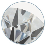 VS1 clarity graded diamond with a very small inclusion