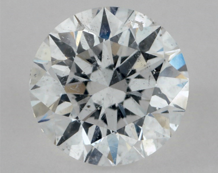 I1 clarity diamond with obvious inclusions visible