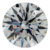 a dot like inclusion that's very small inside a diamond