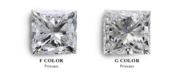 (princess shape) diamond color f vs g