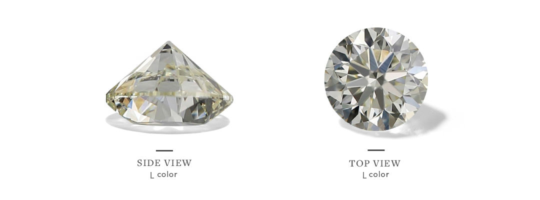 l color diamonds from the top and side