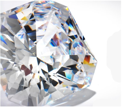 light refracting inside the diamond can creating fire and brilliance