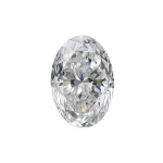 oval diamond with shorter 1.25 length to width ratio