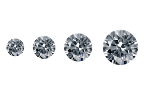 ascending diamond sizes in order from small to large