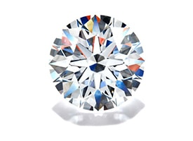 a perfectly cut diamond showing fire, sparkle and brilliance