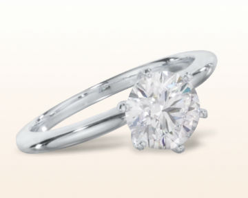 round engagement rings Classic Six Prong Solitaire Diamond