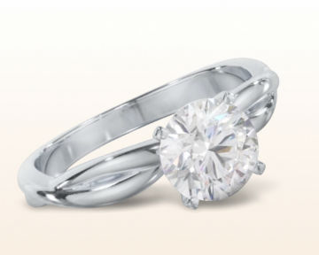 round engagement rings Twisting Solitaire Diamond